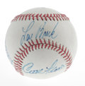 Autographs:Baseballs, 1969 St. Louis Cardinals Baseball Signed By 5. Although its beingsigned on an ONL (Feeney) baseball dates it from having b...