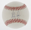 Autographs:Baseballs, Nolan Ryan Single Signed Baseball. Baseball's strikeout leader hasadorned this OAL (Brown) ball with a 10/10 ink sweet spo...