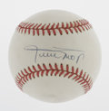 Autographs:Baseballs, Willie Mays Single Signed Baseball. ONL (White) baseball isslightly off-white and has been signed across the sweet spot by...