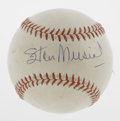Autographs:Baseballs, Stan Musial Single Signed Baseball. Stan the Man has given this ONL(Giles) the benefit of being graced upon its sweet spot...
