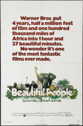"""Movie Posters:Documentary, Beautiful People (Warner Brothers, 1975). One Sheet (27"""" X 41""""). Paddy O'Byrne narrates this documentary about the animals o..."""