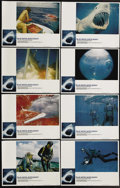 """Movie Posters:Documentary, Blue Water, White Death (National General, 1971). Lobby Card Set of 8 (11"""" X 14""""). Four years before """"Jaws,"""" this documentar... (Total: 8 Items)"""