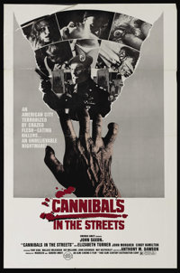 """Cannibals in the Street (Almi Cinema 5, 1982). One Sheet (27"""" X 41""""). Vietnam vets bring back a contagious vir..."""