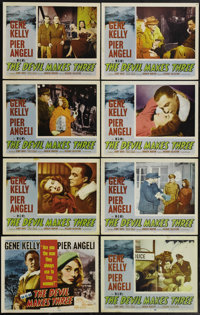 "The Devil Makes Three (MGM, 1952). Lobby Card Set of 8 (11"" X 14""). Gene Kelly is Air Force captain Jeff Eliot..."