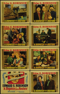 """A Dispatch from Reuters (Warner Brothers, 1940). Lobby Card Set of 8 (11"""" X 14""""). Beautiful linen finish set f..."""