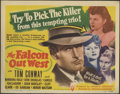 """Movie Posters:Mystery, The Falcon Lot (RKO, 1942-4). Title Lobby Card (11"""" X 14"""") and Lobby Cards (3) (11"""" X 14""""). Starting in 1941, George Sanders... (Total: 4 Items)"""