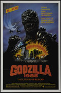 "Movie Posters:Horror, Godzilla 1985 (Toho, 1985). One Sheet (27"" X 41""). Raymond Burr returns to Tokyo in the updated version of Toho's classic mo..."
