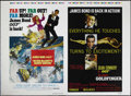 "Movie Posters:Action, Goldfinger/On Her Majesty's Secret Service (United Artists,R-1978). Uncut One Sheets (43.5"" X 60""). In the late 70s, United..."