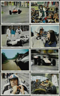 """Movie Posters:Sports, Grand Prix (MGM, 1967). Mini Lobby Cards (14) (8"""" X 10""""). James Garner, Yves Montand, Brian Bedford and Antonio Sabato star ... (Total: 14 Items)"""