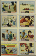 "Movie Posters:Adventure, Legend of the Lost (United Artists, 1957). Lobby Card Set of 8 (11""X 14""). Nice set of lobby cards for John Wayne and Sophi... (Total:8 Items)"