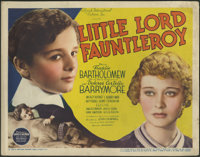 "Little Lord Fauntleroy (United Artists, 1936). Title Lobby Card (11"" X 14""). Beautiful title card for classic..."