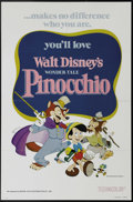 """Movie Posters:Animated, Pinocchio (Buena Vista, R-1978). One Sheet (27"""" X 41""""). Beautiful cartoon art for the 1978 re-release of Walt Disney's class..."""