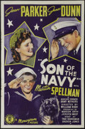 "Movie Posters:Comedy, Son of the Navy (Monogram, 1940). One Sheet (27"" X 41""). James Dunnand Jean Parker star in this drama about a sailor who ad..."