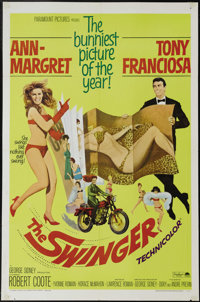 "The Swinger (Paramount, 1966). One Sheet (27"" X 41""). Good girl Ann-Margret tries to prove to men's magazine p..."