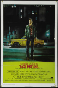 """Taxi Driver (Columbia, 1976). One Sheet (27"""" X 41"""").""""Thank God for the rain to wash the trash off the sid..."""