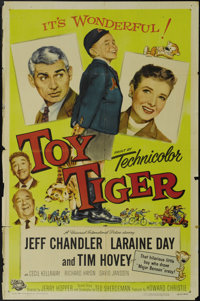 """Toy Tiger (Universal International, 1956). One Sheet (27"""" X 41""""). Child star Tim Hovey (""""The Private War..."""