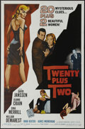 "Movie Posters:Mystery, Twenty Plus Two (Allied Artists, 1961). One Sheet (27"" X 41"").David Janssen and Jeanne Crain star in this mystery surroundi..."