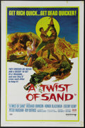 "Movie Posters:Adventure, A Twist of Sand (United Artists, 1968). One Sheet (27"" X 41"").Richard Johnson and Honor Blackman star in this tale of greed..."