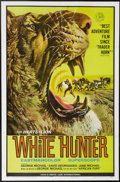 "Movie Posters:Adventure, White Hunter (Herts-Lion International, 1964). One Sheet (27"" X41""). George Michael (a real-life African big game hunter) w..."