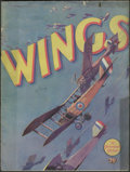 Movie Posters:War, Wings (Paramount, 1927). Program (Multiple Pages).Twenty-eight-year-old director William Wellman, himself a wartimeaviator...