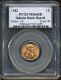 Lincoln Cents: , 1942 1C MS66 Red PCGS. PCGS Population (917/99). NGC Census:(814/280). Mintage: 657,828,608. Numismedia Wsl. Price: $22. (...