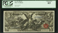 Large Size:Silver Certificates, Fr. 269 $5 1896 Silver Certificate PCGS Choice New 63.. ...