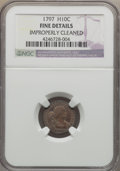 Early Half Dimes, 1797 H10C 16 Stars, V-4, LM-2, R.4 -- Improperly Cleaned -- NGCDetails. Fine....