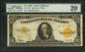 Large Size:Gold Certificates, Fr. 1173* $10 1922 Gold Certificate Star Note PMG Very Fine 20.. ...