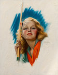 Pin-up and Glamour Art, Charles Gates Sheldon (American, 1889-1960). Breck Girl,circa 1948. Oil on canvasboard. 25.5 x 20 in. (sheet). Signed c...