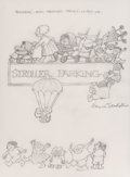 Mainstream Illustration, Maurice Sendak (American, 1928-2012). Stroller Parking.Pencil on tracing paper. 9.5 x 7 in. (sight). Signed center righ...