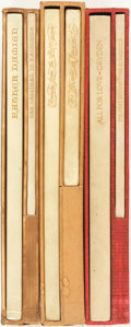 Books:Literature Pre-1900, [Robert Louis Stevenson, Elizabeth Barrett Browning, John Dryden].Trio of LIMITED Editions. San Francisco: Printed for Will...(Total: 6 Items)