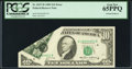 Error Notes:Foldovers, Fr. 2027-D $10 1985 Federal Reserve Note. PCGS Gem New 65PPQ.. ...