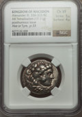 Ancients:Greek, Ancients: MACEDONIAN KINGDOM. Alexander III the Great (336-323 BC).AR tetradrachm (17.11 gm). NGC Choice VF 5/5 - 4/5....