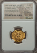 Ancients:Roman Imperial, Ancients: Theodosius II, Eastern Roman Emperor (AD 402-450). AVsolidus (4.40 gm). ...