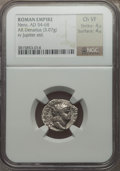 Ancients:Roman Imperial, Ancients: Nero (AD 54-68). AR denarius (3.07 gm)....
