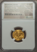 Ancients:Byzantine, Ancients: Constantine IV (AD 668-685). AV solidus (4.44 gm)....