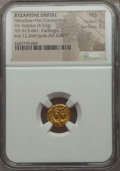 Ancients:Byzantine, Ancients: Heraclius (AD 610-641), with Heraclius Constantine. AVsolidus (4.54 gm)....