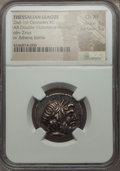 Ancients:Greek, Ancients: THESSALY. Thessalian League (2nd-1st centuries AD). ARstater or double-victoriatus (6.18 gm)....