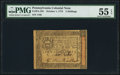 Colonial Notes:Pennsylvania, Pennsylvania October 1, 1773 2s PMG About Uncirculated 55 EPQ.. ...