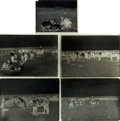 Books:Photography, [Texana, Photography]. Frank Reeves, photographer. Group of Five Glass Negatives Depicting Scenes from SMS Ranch, Circa 1920....