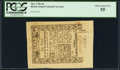 Colonial Notes:Rhode Island, Rhode Island May 1786 6d PCGS Choice About New 55.. ...