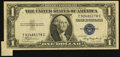 Error Notes:Attached Tabs, Fr. 1608 $1 1935A Silver Certificate. Choice About Uncirculated.....