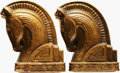 Books:Furniture & Accessories, [Bookends]. Pair of Matching Bookends Depicting Horse Heads. Unsigned, undated.... (Total: 2 Items)
