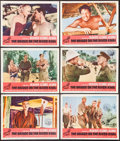 "Movie Posters:War, The Bridge on the River Kwai (Columbia, R-1963). Lobby Cards (6)(11"" X 14""). War.. ... (Total: 6 Items)"