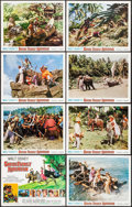 """Movie Posters:Adventure, Swiss Family Robinson & Other Lot (Buena Vista, R-1968). LobbyCard Sets of 8 (2 Sets) (11"""" X 14""""). Adventure.. ... (Total: 16Items)"""