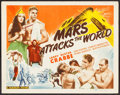 "Movie Posters:Science Fiction, Mars Attacks the World (Filmcraft, R-1950). Title Lobby Card (11"" X14""). Science Fiction.. ..."