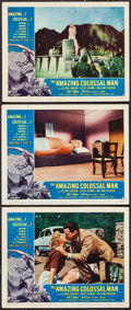 """Movie Posters:Science Fiction, The Amazing Colossal Man (American International, 1957). LobbyCards (3) (11"""" X 14""""). Science Fiction.. ... (Total: 3 Items)"""