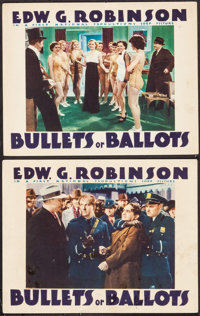 "Bullets or Ballots (Warner Brothers, 1936). Lobby Cards (2) (11"" X 14""). Crime. ... (Total: 2 Items)"