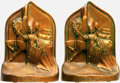 Books:Furniture & Accessories, [Bookends]. Pair of Matching Bookends Depicting Sir Galahad.Unsigned, undated.... (Total: 2 Items)