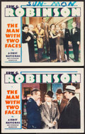"Movie Posters:Crime, The Man with Two Faces (First National, 1934). Lobby Cards (2) (11""X 14""). Crime.. ... (Total: 2 Items)"